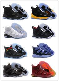brand new 56a7a 45a5f 2018 nouveau James Soldier XI 11 bleu marine hommes   femmes   enfants chaussures  de basket LeBron soldat XI 11 noir   rouge   blanc baskets sport jeunes