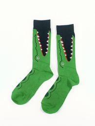 8388100246090 Men's Crocodile Socks USA Size 9-13,Euro Size 42-46 (Thin Material Non  Cotton)