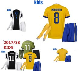 Wholesale Multi Buy - 17 18 kiDS jersey shirt MARCHISIO DYBALA HIGUAIN BONUCCI 2018 youth Football soccer uniform Maglia m tzen l mpada polyester How to buy