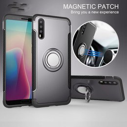 Wholesale nova pc - Cases For Huawei P20 Pro Lite Plus Case Soft Silicone Hard PC Ring armor Back Cover sFor Huawei P9 Plus Case For Huawei Nova 3E