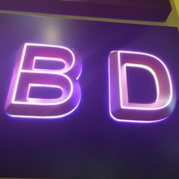 Lettres plastiques 3d en Ligne-Petites lettres acryliques en plastique éclairées par 3D