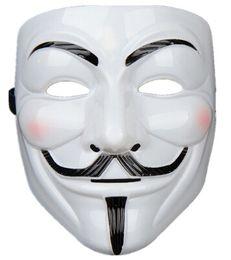 v para vestuário de fantasia Desconto Máscaras do partido V para a máscara da vingança Anonymous Guy Fawkes Fancy Dress Adult Costume Acessório Partido Cosplay Máscaras
