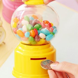 Wholesale Gumballs Machine - Cute Sweets Mini Candy Machine Bubble Gumball Dispenser Coin Bank Kids Toy Worldwide sale Money Saving Box Baby Gift Toys 18067