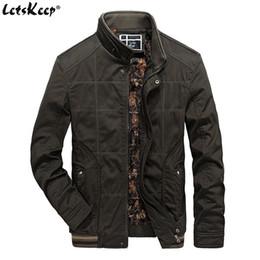 LetsKeep chaqueta táctica de los hombres del ejército del ejército verde de lana chaqueta casual suelta para hombre chaqueta cortaviento abrigo de gran tamaño MA417 desde fabricantes