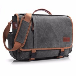 Wholesale Macbook Messenger - CoolBell Brand Laptop Messenger Bag Men 15.6 Inch Canvas Briefcase Shoulder Bag Women Handbag Multifunctional Travel