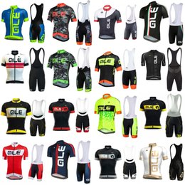 Wholesale Men Cycling Set - Ale 2018 Pro Men Team cycling jersey sport suit bike maillot ropa ciclismo Bicycle MTB cycling Bib Shorts set clothing 3283
