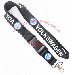 Wholesale vw chain - The charisma of a car VOLKSWAGEN VW Lanyard Keychain Key Chain ID Badge cell phone holder Neck Strap black.