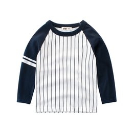 2019 meninos listrado camiseta Baby boys tshirts Listrado tees de algodão de boa qualidade crianças criança roupas camisetas de manga comprida meninos listrado camiseta barato