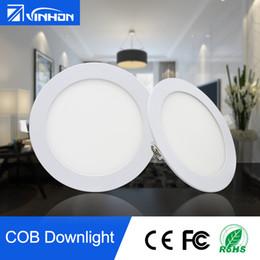 Plafond rond brillant en Ligne-Super lumineux 15W 18W 20W 25W LED Downlight Expédition rapide LED voyant encastré rond plafonnier ultra mince LED lampes