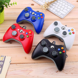 2018 controlador de la computadora para pc 2018 Hot Selling Game Controller para Xbox 360 Gamepad Black USB Wire PC para XBOX 360 Joypad Joystick Accesorio para Laptop PC controlador de la computadora para pc outlet