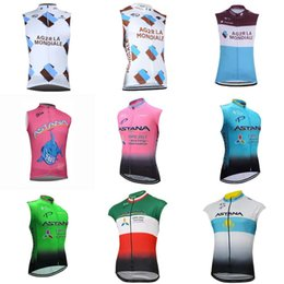 Wholesale Team Cycling Vests - AG2R ASTANA 2018 Cycling Vest Jersey Men Summer Sleeveless MTB Bike Jersey Cycling Clothing Cycling Shirts Bicycle Clothing Pro Team C1415