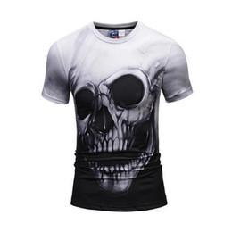 2018 nueva marca de moda camiseta hip hop 3d impresión cráneos Harajuku  animación 3d camiseta verano fresco camisetas Tops marca clothing 68c50944c1e