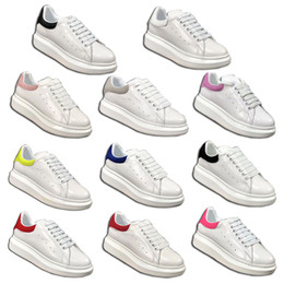 Wholesale queen cotton - 2018 new Alexander Oversized Queens Leather Sneaker Oversized Sneaker Women's White Jean Denim Trim Shoes Runner Sneakers With Box