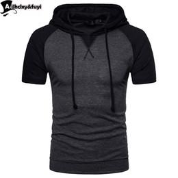 2019 assassins hoodie NEUE Hoodies Männer Slim Fit Mit Schwarzem Kleid Hip Hop Sweatshirt Hoodie Kurzarm Sweatshirt Lässig Mit Kapuze Assassins Creed günstig assassins hoodie
