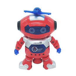 Wholesale bear musical - Abbyfrank Electronic Pet 360 Rotating Space Dancer Pet Musical Walking Lighten Electronic Toys Smart Toy For Children