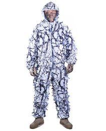 Canada TPRPST 3D blanc prunier neige branches style camouflage ghillie costume birdwatch chasse vêtements incluent veste et pantalon supplier snow pants Offre