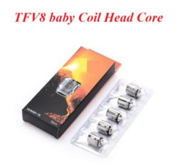 Wholesale head stock - TFV8 BABY Beast Tank Coil Head V8 Baby-T8 T6 X4 M2 Q2 0.4ohm Core Replacement Atomizer Coils 7 all coil head stocked