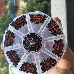 Bobinas pré-construídas 8 em 1 Kit Demon Killer pré-construído 48 pcs Hive Quad Flat Mix Alienígena Torcida Alienígena Clapton Tigre RBA Atomizador bobina de