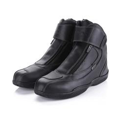Deutschland wie-ja ARCX 100% wasserdichte Motorrad Boot Racing Lederschuhe hohe Qualität Motorcross Schutz Boot schwarz Farbe 39-45 Versorgung
