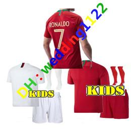 Wholesale Mario Football - KIDS 2018 RONALDO PORTUGALIZER 18 19 SOCCER Jerseys GUEDES BERNARDO MARIO ANDRE SILVA GOMES AWAY JERSEY PORTUGAL FOOTBALL SHIRT