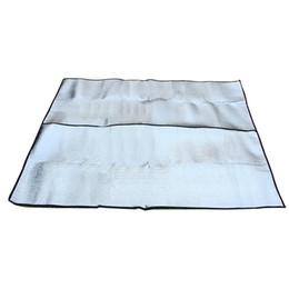 Tapis de camping double en Ligne-200 * 200 * 0.25 cm Camping En Plein Air Tapis Air Matelas Pique-Nique Couverture Pique-Nique Tapis Tapis Feuille D'aluminium Tapis Double Côté Camping Dampproof