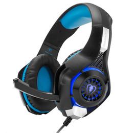 Tablette gms online-Gaming-Headset für PS4 PSP Xbox PC Tablet Laptop GM-1 Stirnband Kopfhörer mit Mikrofon LED-Licht