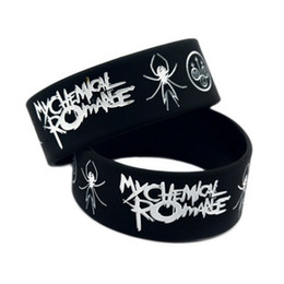 soft rubber spiders Promo Codes - Fashion rock rubber wristband 1PC New Romance Punk Style Silicone Soft cheap spider balck silicone bracelet