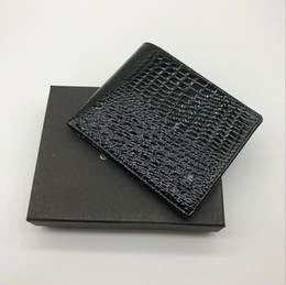 Wholesale Luxury Gift Boxes Packaging - Men's new luxury fashion M B business wallet short MT card holder wallet MB high-end gift box package credit card holder