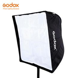 Wholesale Photography Strobe - Wholesale-Godox 60CM x 60CM 24in x 24in Rectangular Umbrella Softbox Brolly Reflector for Strobe Studio Flash Speedlight Photography