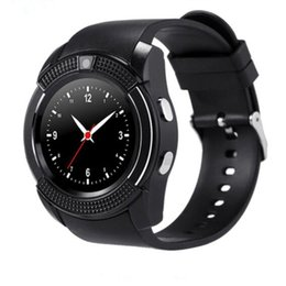 used cameras for sale Promo Codes - Hot Sale Bluetooth Smart Watch V8 SIM Card TF Card HD Circular Screen Smart Wrist Watch Phone smart watches wholesale 1pcs lot