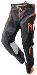 Pantalones de bicicleta hombres online-Hombres de alta calidad para KTM Motocross Racing Rally Pants Motocicleta Dirt Bike MTB Pantalones de montar con protector de cadera gris K KMGY45E