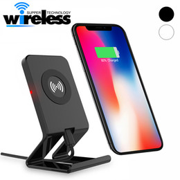 Wholesale Desktop Charger Iphone Dock - Desktop Dock Qi Wireless Charger Holder Stand For Samsung S6 S7 edge S8 Plus note8 Iphone 8 plus X Universal Charger