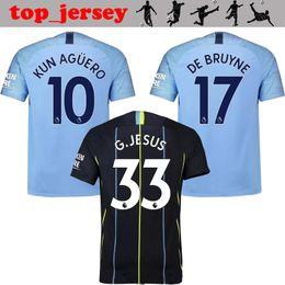 2019 new KUN AGUERO man city Soccer Jersey 18 19 DE BRUYNE home away 3rd G. JESUS thai quality NOLITO SANE SILVA STERLING Football Shirts d15362253813f
