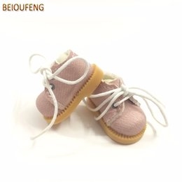 Wholesale blythe dolls - BEIOUFENG Sneakers Shoes for Dolls 3.8cm Mini Toy Boots for Blythe Doll Toy,Causal Canvas Shoes Gym BJD Doll 2 Pair