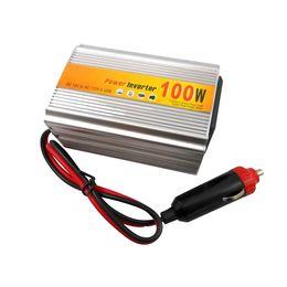 Модифицированный 12v инвертор онлайн-100 Вт модифицированная синусоида инвертор силы автомобиля с USB cigarrette вилка ,автомобильный преобразователь постоянного тока 12V в 220V инвертор переменного тока