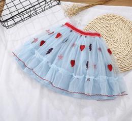 al por mayor chicas tutus pettiskirts Rebajas Alta calidad de la nueva llegada 2018 del verano ropa de los niños niñas bebés bordado floral falda de las niñas del niño vestido de encaje elegante envío gratis