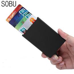 Portafoglio ipad mini online-Portafoglio in alluminio mini con chiusura a scomparsa in metallo mini ID per iPad 2018