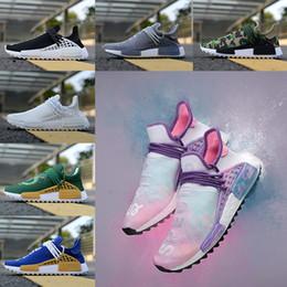 Wholesale Dragon Ball Shenron - 2018 Human Race Pharrell Williams Hu trail Running Shoes Men Women Holi Shenron Dragon NERD Ball Vegeta Son Goku Sport Shoe Athletic Sneaker