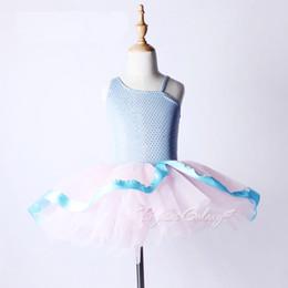 trajes de bailarina adultos Desconto Crianças Vestido de Balé Profissional Para Meninas Adulto Tutu Trajes Azul Lantejoulas Collant Ballet Para As Mulheres Bonito Da Criança Da Roupa Da Bailarina