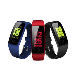 2019 color lcd reloj V10 Pulseras inteligentes Fitness Tracker Pulsera Monitor LCD de ritmo cardíaco a color Relojes de presión arterial Pulsera Podómetro Pulsera color lcd reloj baratos
