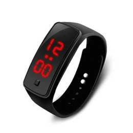 Wholesale silicone rubber sell - Manufacturers selling LED bracelet second-generation silicone electronic watch children male and female students sports silicone gift watch
