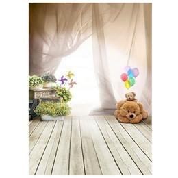 Fondo di fotografia dei bambini dei contesti dello studio del pallone del pavimento dell'orso di EDT-1m x di 1.5m da