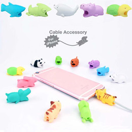 Wholesale iphone color cables - Cable BiteToy Cable Protector Animal Iphone Cable Bite Animal Doll 2*2*4cm Animal Iphone port Bite DHL Free Shipping