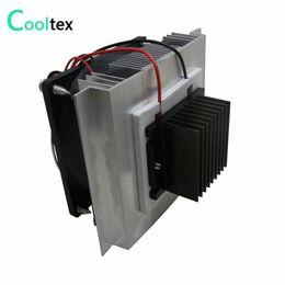 Wholesale Peltier Thermoelectric Cooling - DIY Thermoelectric Cooler Cooling system semiconductor refrigeration system kit heatsink Peltier cooler radiator fans cooling