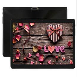 china tablet telefon sim Rabatt 10 Zoll 2.5D Gläser Tabletten Android 7.0 3G Tablet PC 1280 * 800 4 GB RAM 64 GB ROM Dual SIM Karte Kameras IPS GPS WCDMA Tablets