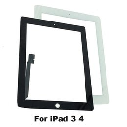 Wholesale Stickers For Tablets - Wholesale- KEFU Tablet Touch Screen For ipad3 A1416 A1430 A1403 for iPad 4 A1458 A1459 A1460 Digitizer Glass Panel with Sticker + Tools