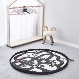 Kinder spielen kunst zu hause online-Tragbare Spielzeug Organizer Aufbewahrungstasche Kid Spielmatte Große Durable Home Decor Abenteuer Racing Runde Kinder Crawling Teppich Teppich Decke