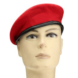 13804b47ed312 red army beret 2019 - 2018 Autumn Wool Knitted Mens Beret Caps Winter Boys  Flat Cap