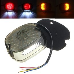 Wholesale Dyna Led - Motorcycle Lay Down Smoke LED Tail Brake Turn Light Signal Lamp for Harley Sportster Softail Dyna 1991-2010