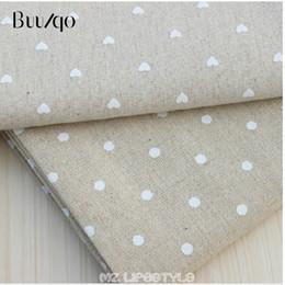 604f6f522 Chinos Buulqo 100 * 150 cm tejido de algodón y lino puntos impresos tela de  algodón